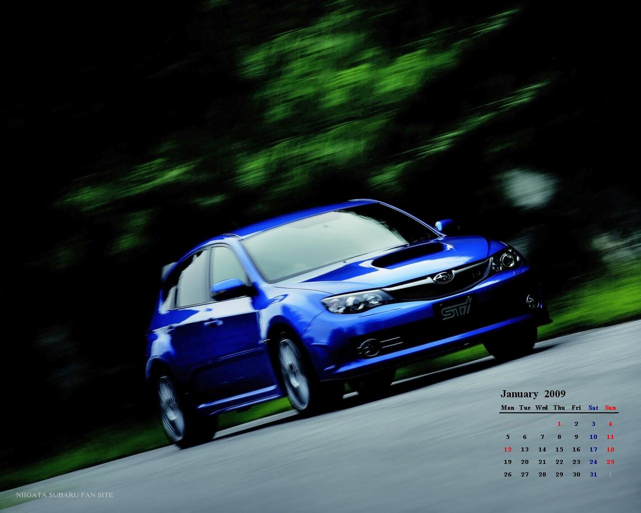 スバル 富士重工 ニュース News Subaru 2009 1 壁紙 January